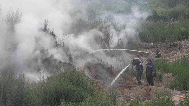 У Жидачеві упродовж двох днів гасили пожежу на сміттєзвалищі
