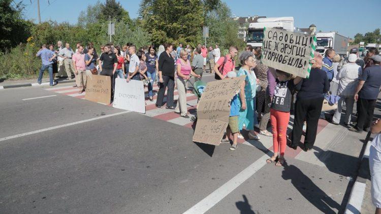 Через протести мешканців роботи по рекультивації Грибовичів призупинені